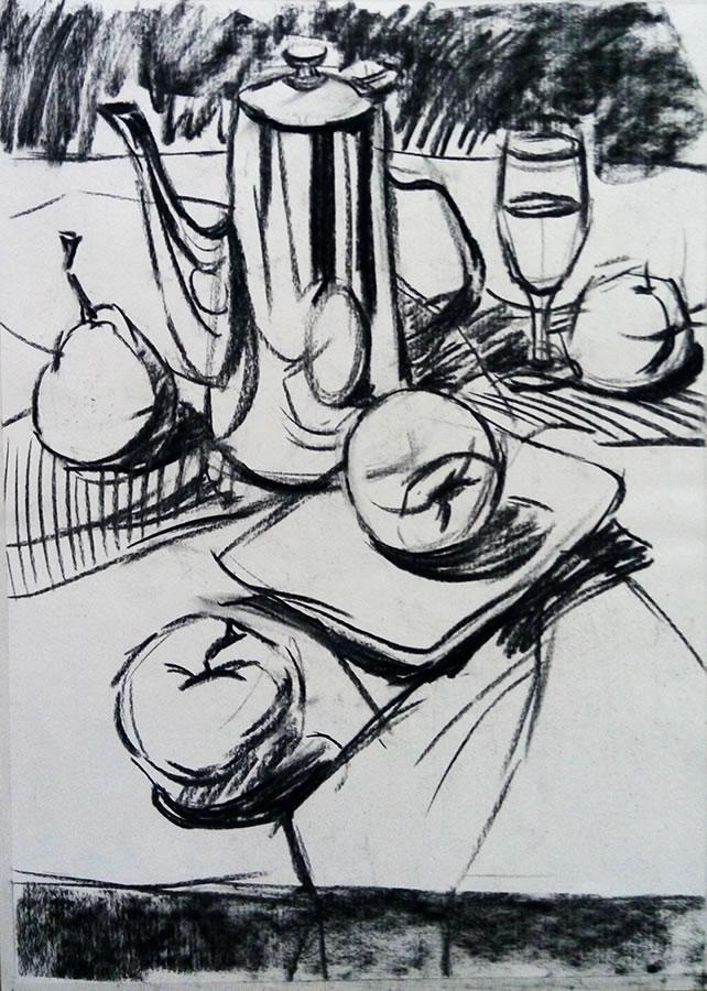 素描中常见的水果,蔬菜画法步骤图,非常详细,一看就会